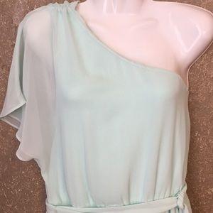 Express Dresses - Express One Shoulder Chiffon Dress